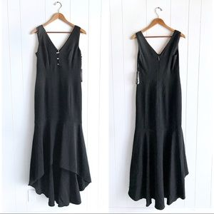 NWT Karl Lagerfeld High-Low Sleeveless Black Gown